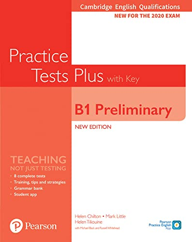 9781292282220: Cambridge English Qualifications: B1 Preliminary New Edition Practice Tests Plus Student's Book with key