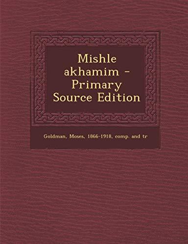 9781293046357: Mishle akhamim (Hebrew Edition)