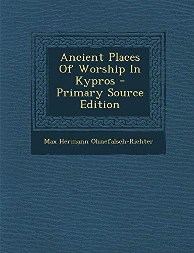 9781293053973: Ancient Places Of Worship In Kypros