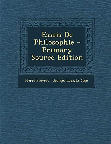 9781293071052: Essais de Philosophie