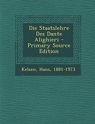 9781293090671: Die Staatslehre Des Dante Alighieri