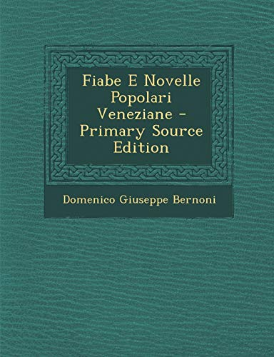 9781293095492: Fiabe E Novelle Popolari Veneziane