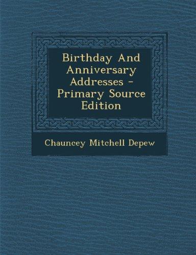 9781293096765: Birthday And Anniversary Addresses