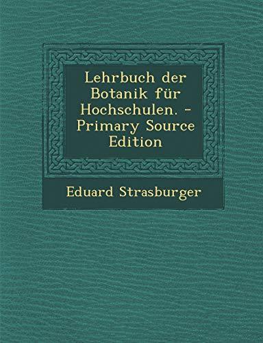 9781293106334: Lehrbuch Der Botanik Fur Hochschulen.