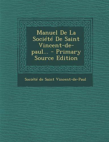 9781293124925: Manuel De La Société De Saint Vincent-de-paul...