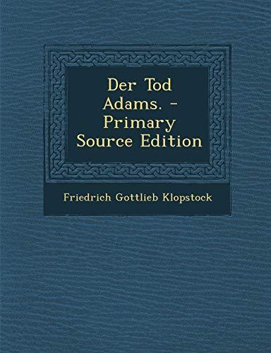 9781293183915: Der Tod Adams.