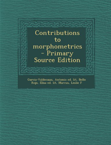 9781293228173: Contributions to morphometrics