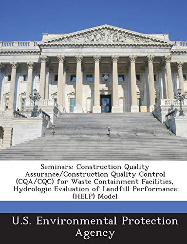 Seminars: Construction Quality Assurance/Construction Quality Control (Cqa/Cqc)