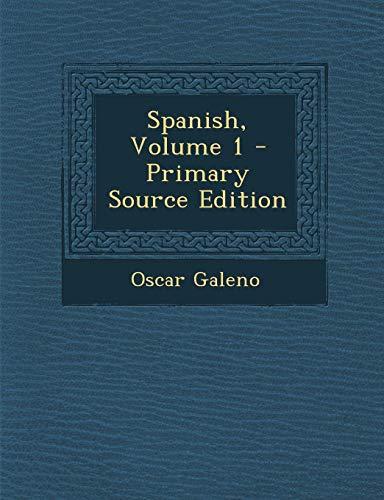 9781293296790: Spanish, Volume 1 (Spanish Edition)