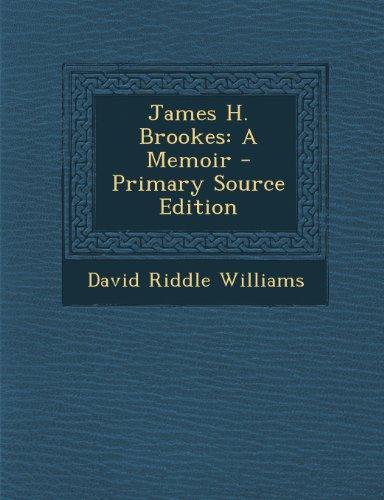 9781293301593: James H. Brookes: A Memoir