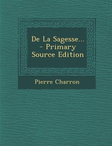 9781293305621: de La Sagesse...