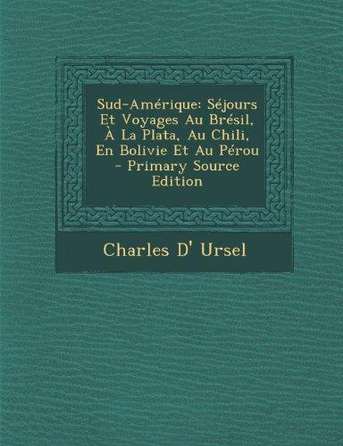 9781293305720: Sud-Amérique: Séjours Et Voyages Au Brésil, À La Plata, Au Chili, En Bolivie Et Au Pérou - Primary Source Edition (French Edition)