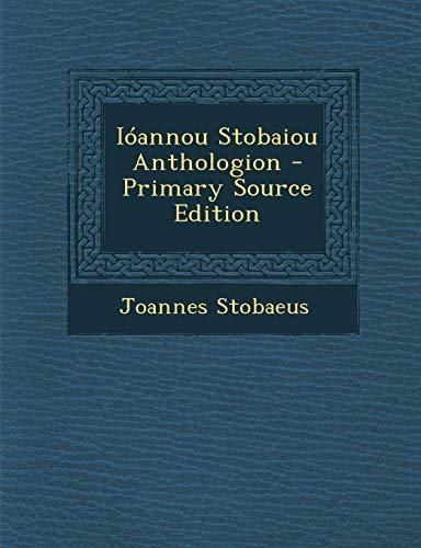 9781293314265: Ioannou Stobaiou Anthologion