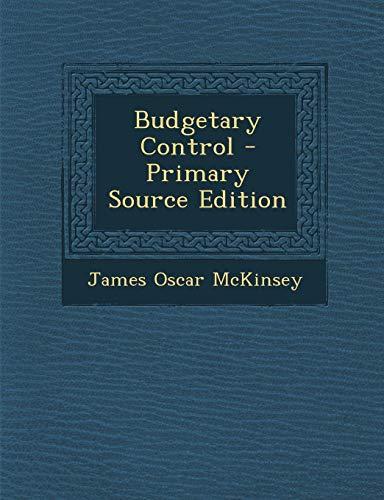 9781293363522: Budgetary Control