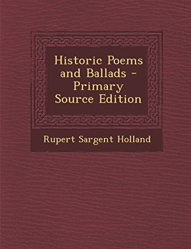 9781293393130: Historic Poems and Ballads