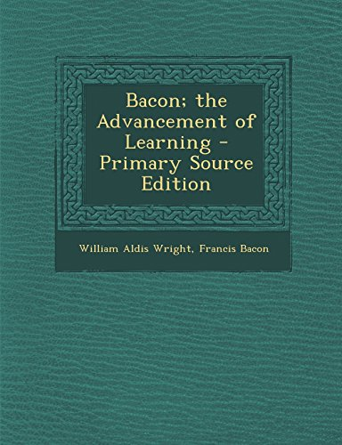 9781293419618: Bacon; The Advancement of Learning