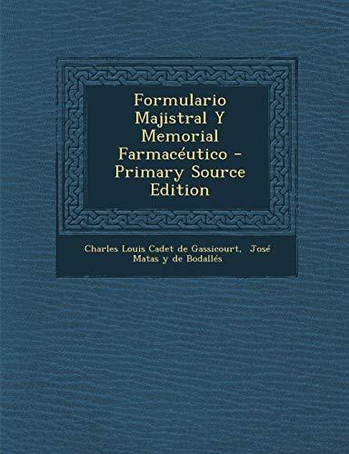 9781293474471: Formulario Majistral Y Memorial Farmacéutico (Spanish Edition)