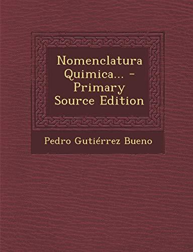 9781293480397: Nomenclatura Quimica... (Spanish Edition)