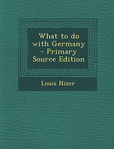 9781293501047: What to do with Germany