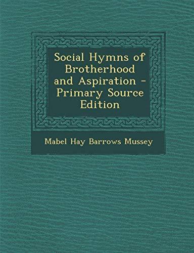 9781293527054: Social Hymns of Brotherhood and Aspiration