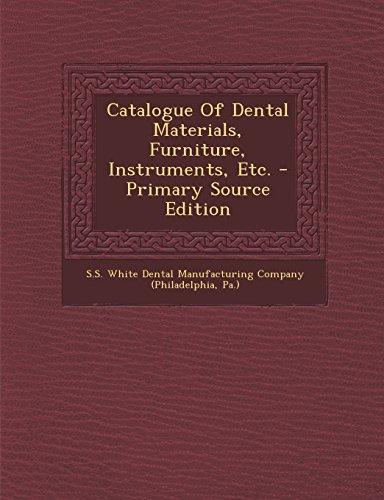 9781293616918: Catalogue Of Dental Materials, Furniture, Instruments, Etc.