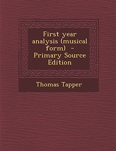 9781293640456: First year analysis (musical form)