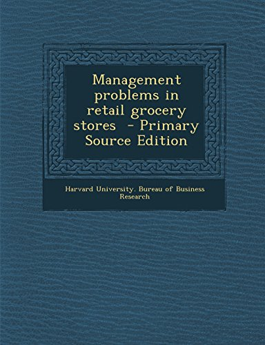 9781293640746: Management problems in retail grocery stores