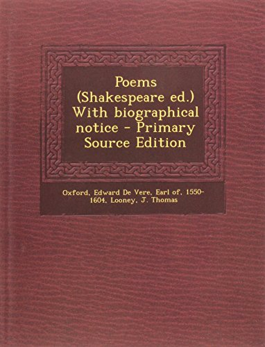 9781293660676: Poems (Shakespeare ed.) With biographical notice