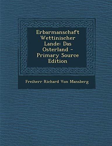 9781293665565: Erbarmanschaft Wettinischer Lande: Das Osterland