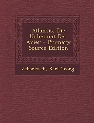 9781293672907: Atlantis, Die Urheimat Der Arier