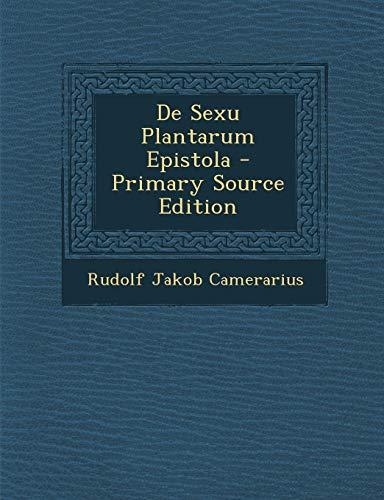 9781293680469: De Sexu Plantarum Epistola (German Edition)