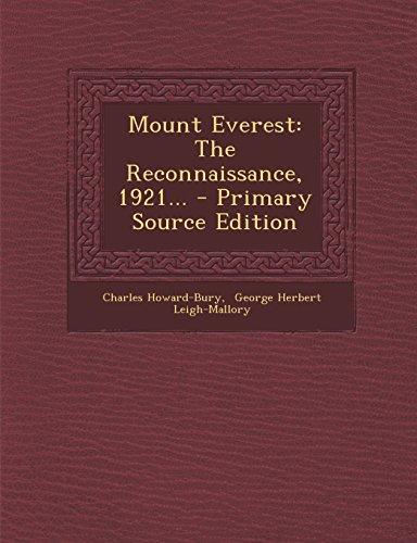 9781293696712: Mount Everest: The Reconnaissance, 1921...