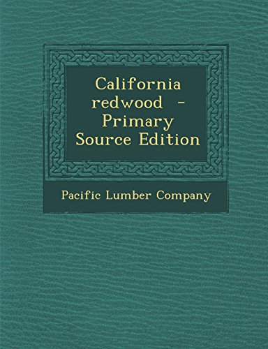 9781293704219: California Redwood - Primary Source Edition