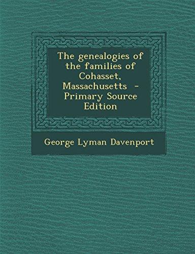 9781293708590: The genealogies of the families of Cohasset, Massachusetts