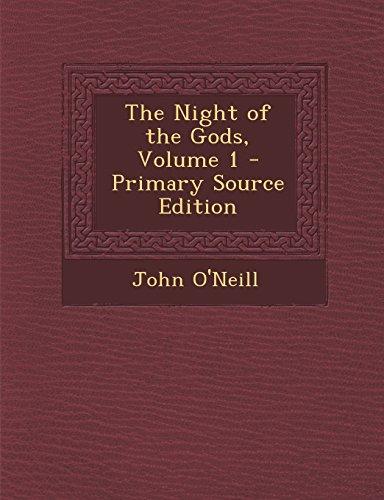 9781293718810: The Night of the Gods, Volume 1