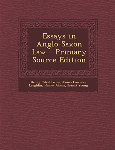 9781293720202: Essays in Anglo-Saxon Law - Primary Source Edition