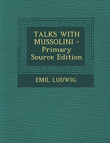 9781293723593: TALKS WITH MUSSOLINI