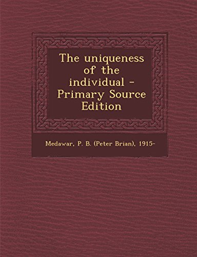 9781293726358: The uniqueness of the individual