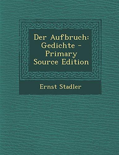 9781293736760: Der Aufbruch: Gedichte (German Edition)