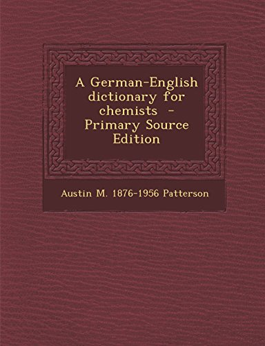 9781293751015: A German-English dictionary for chemists