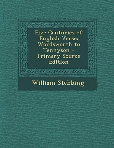 9781293754511: Five Centuries of English Verse: Wordsworth to Tennyson