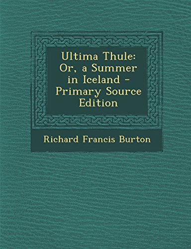 9781293775325: Ultima Thule: Or, a Summer in Iceland