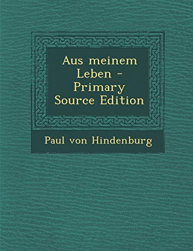 9781293795002: Aus meinem Leben (German Edition)