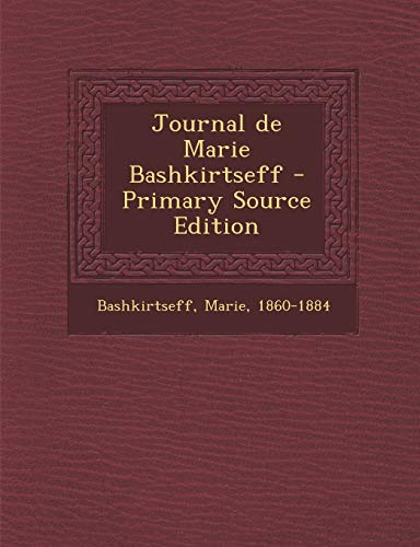 9781293802168: Journal de Marie Bashkirtseff