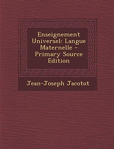 9781293804544: Enseignement Universel: Langue Maternelle