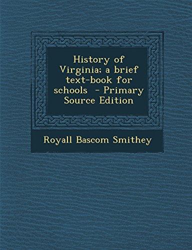 9781293804681: History of Virginia; a brief text-book for schools
