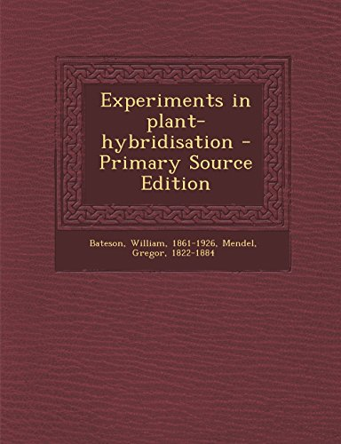 9781293807637: Experiments in plant-hybridisation
