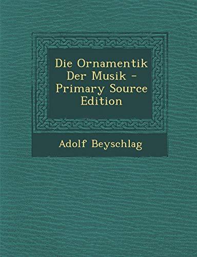 9781293815984: Die Ornamentik Der Musik