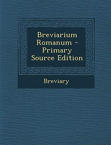 9781293816783: Breviarium Romanum (Latin Edition)
