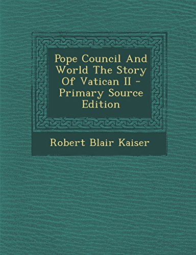 9781293821138: Pope Council And World The Story Of Vatican II